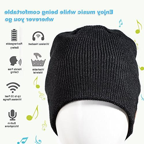 Enjoybot Bluetooth Knit Winter Hats Cap with Built-in and for Sports