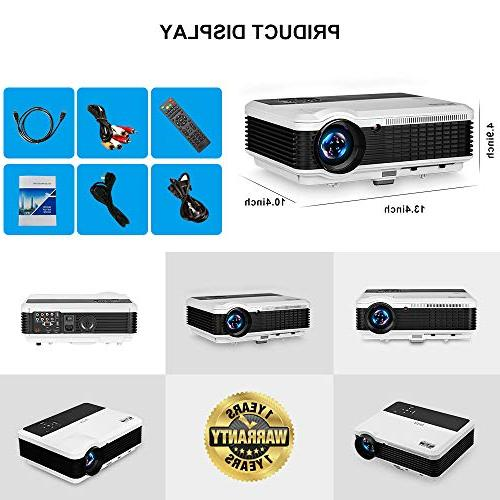 Wireless 1080P Smart Android LED Video Projectors 3900 Lumen WiFi Proyector USB Driver TV Stick PS4