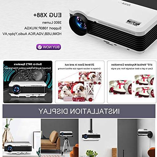 Wireless HDMI 1080P Theater 2019 LED 3900 Outdoor WiFi Proyector for USB Driver PS4 Xbox
