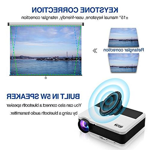 Wireless Bluetooth 1080P Home Theater 2019 Smart Android 6.0 LCD LED 3900 Lumen Proyector for PC USB Driver PS4 Wii Xbox