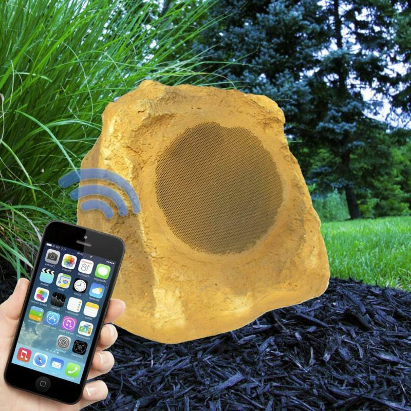 Bluetooth Outdoor Rock Speakers Canyon Sandstone Auxiliary Tereo