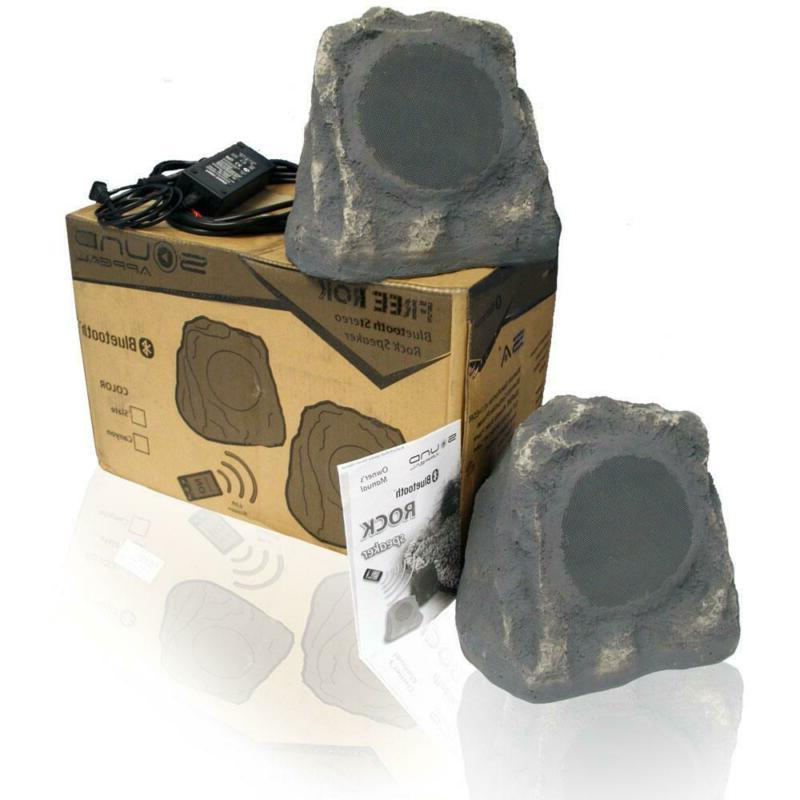 Bluetooth Rock Speakers High Grey Auxiliary