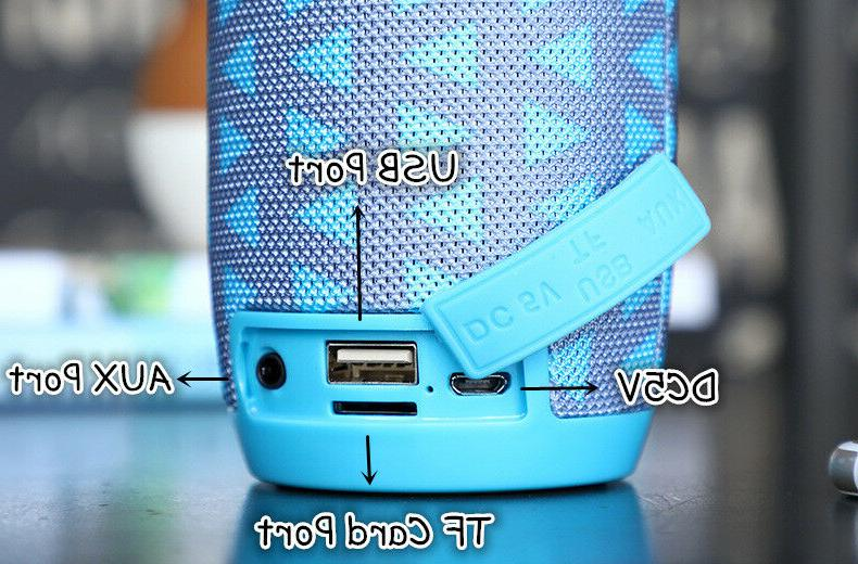 Portable Bluetooth Outdoor Bass Radio/TF/USB/AUX