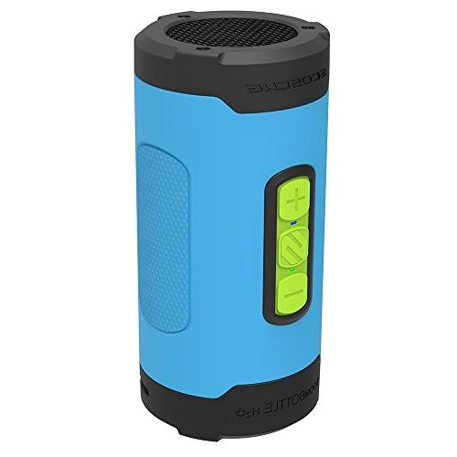 Waterproof Portable Wireless Speaker - 360-Degree Watt 50mm Speaker with Subwoofer and Functions Blue