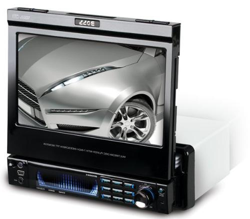 BOSS Audio In-Dash Single-Din Motorized Detachable Touchscreen Player Receiver with