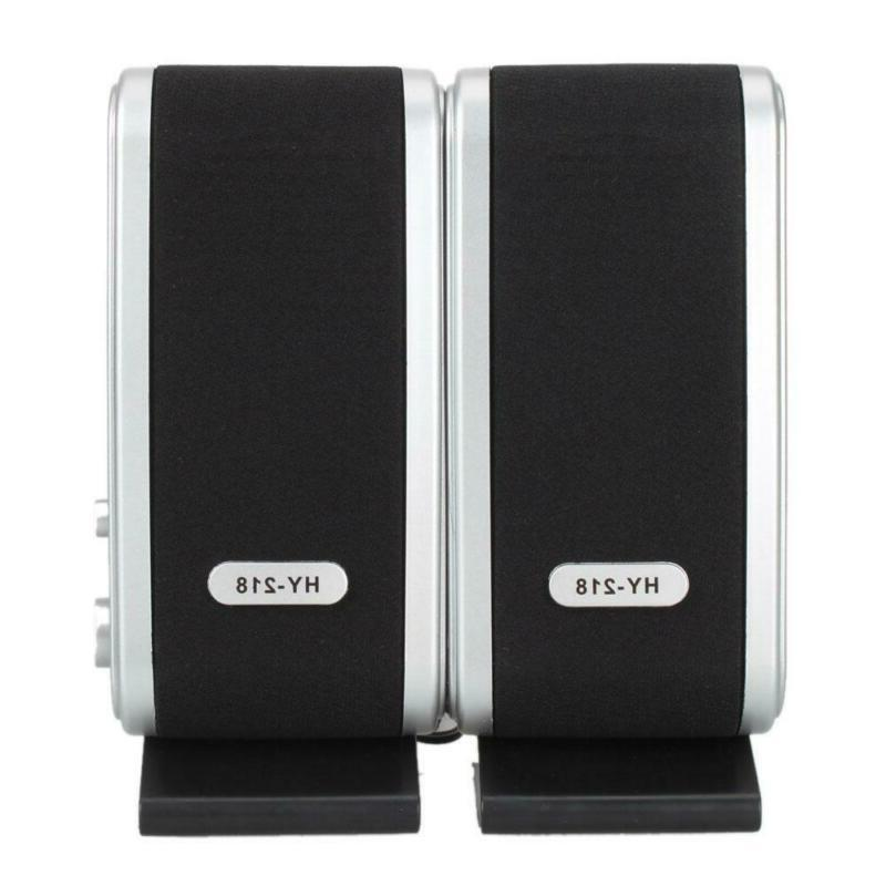 Portable Wired USB Power Computer Speakers Stereo 3.5mm Jack