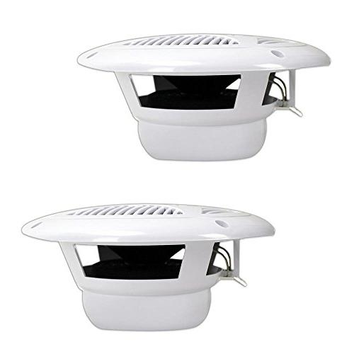 6.5 Speakers Waterproof Outdoor System with Power, Polypropylene Cloth 1 Pair - PLMR60W