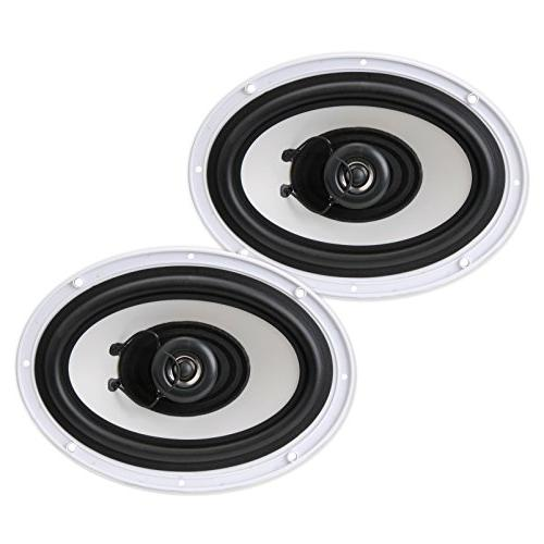 6x9 Speakers - Waterproof Weather Outdoor Audio Power, Poly Cone and Surround -