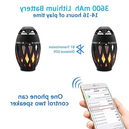 LEDMEI Led Flame Flame Bluetooth Wireless Portable Outdoor Speaker with Warm iPhone/iPad/Android
