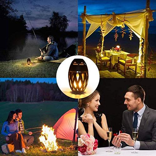 LEDMEI Led Flame Flame Torch Atmosphere Bluetooth 4.2 Wireless Outdoor Speaker with LED Warm Night for iPhone/iPad/Android
