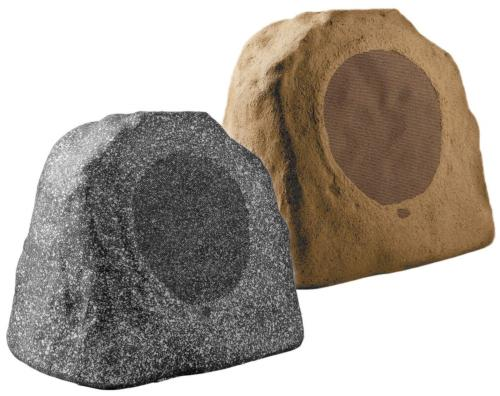 OSD Audio Outdoor Pair Rock Speakers - Home Patio Stereo, Gr