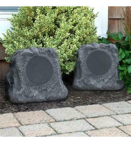pair bluetooth wireless outdoor rock speakers waterproof