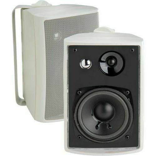 Pair Dual 4'' 3Way Waterproof Box Home Outdoor System