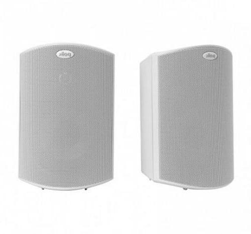 Pair White Polk Audio Atrium 5 Speakers Indoor Outdoor Audio