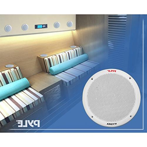 6.5 Speakers Waterproof and Resistant Outdoor Audio System with Power, Polypropylene Butyl Rubber 1 Pair PLMR605W