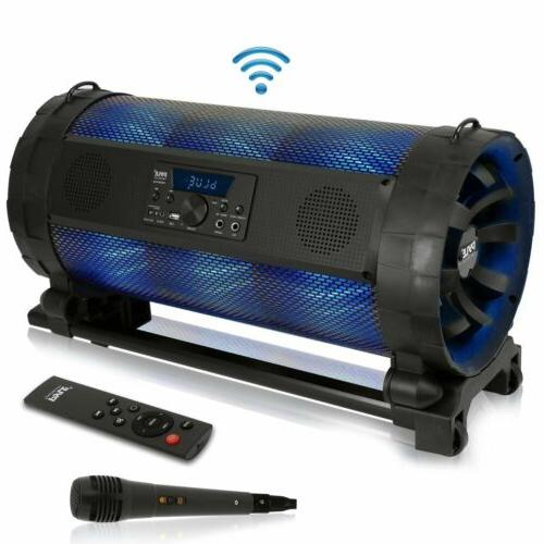 portable bluetooth boombox stereo system