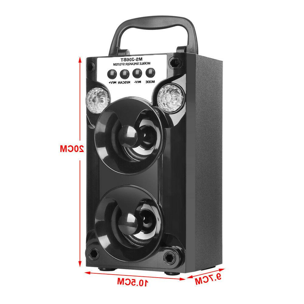 Portable Outdoor USB AUX TF Radio Super Bass Speaker
