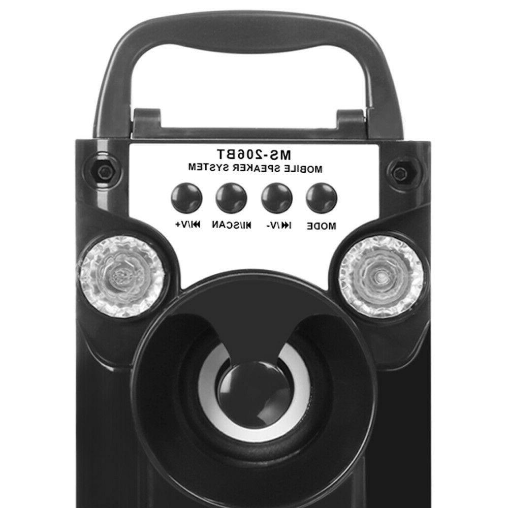 Portable Bluetooth LED Radio Wireless Super Bass Speaker
