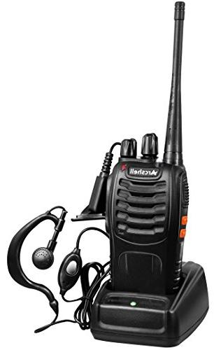 Arcshell Two-Way Radios with Earpiece 6 UHF 400-470Mhz Walkie and Charger