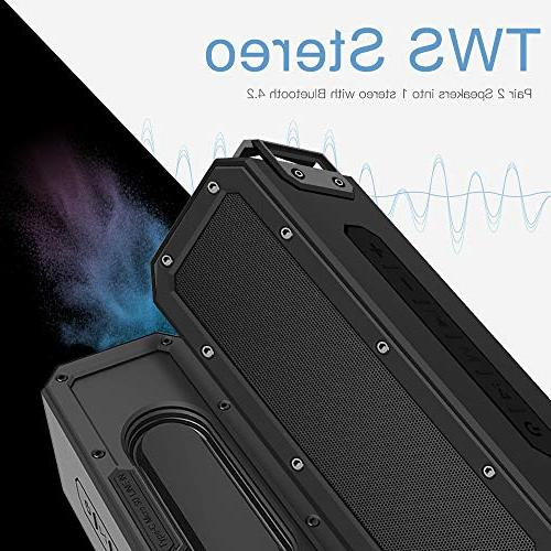 SINOBAND Shockproof Portable Bluetooth 15 Hour TWS,Tablets, and Bluetooth-Capable Devices