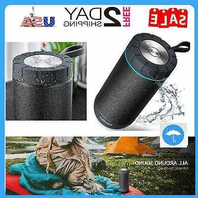 COMISO Waterproof Outdoor Portable Speaker with 20 Hours Superior Sound for Beach, Shower