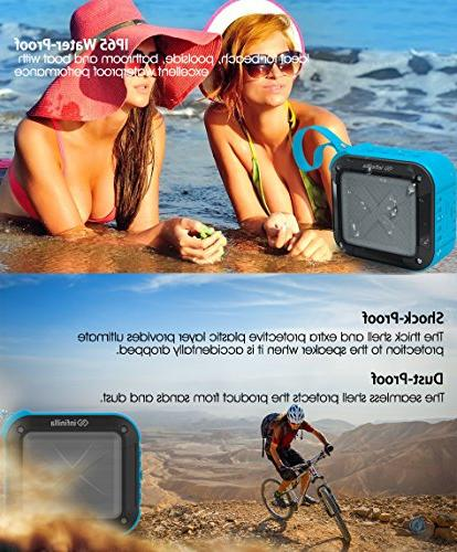 Infinilla Bluetooth Speakers, Portable Outdoor, Shower, and Golf, 12 Hour with FM Mic, NFC and Slot -