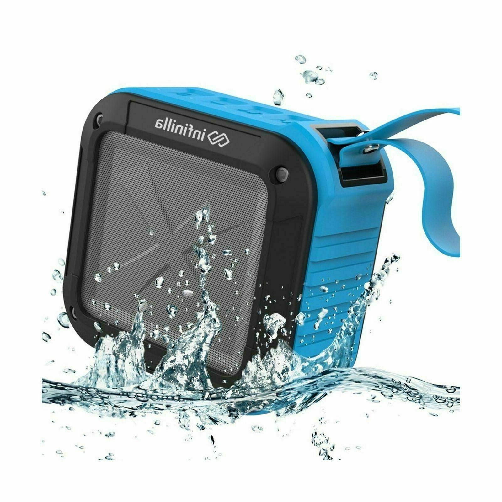 Infinilla Waterproof Bluetooth Speakers, Portable Speaker Outdoor, Beach Golf, 12 Playtime with NFC and Card Slot