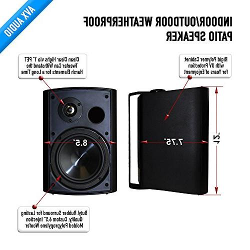 "6.5"" speaker pair by AVX Audio"