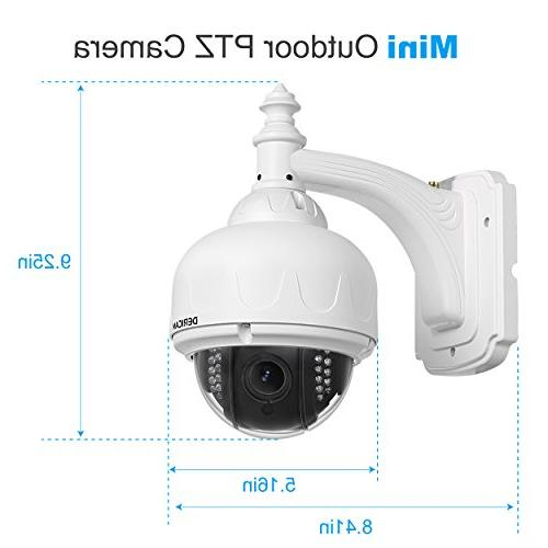 Dericam Outdoor IP Security Camera, Pan/Tilt Fixed Lens Megapixel, Pre-Installed Card, S1E-16G White