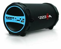 LARGE Axess SPBT1031-BK Portable Bluetooth Cylinder Loud Spe