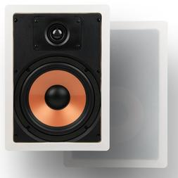"Micca M-8S 8 Inch 2-Way In-Wall Speaker with Pivoting 1"" Sil"