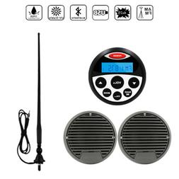 """Marine Bluetooth Stereo System Boat FM AM Radio+3"""" Outdoor S"""