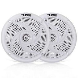 Pyle Marine Speakers - 4 Inch 2 Way Waterproof and Weather R