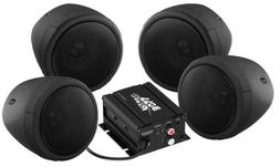 BOSS AUDIO MCBK470B Black 1000 watt Motorcycle ATV Sound Sys