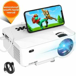 Mini Projector, T TOPVISION 2400Lux Projector with Synchroni