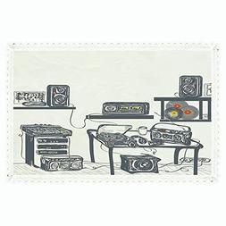 iPrint Modern,Rectangle Polyester Linen Tablecloth/Recording