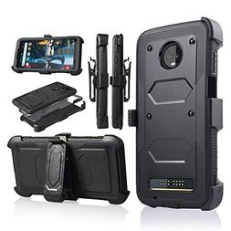 Moto Z3 Play Case, Moto Z3 Case, Heavy Duty Armor Shockproof