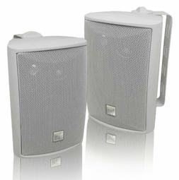 New Dual LU43PW Dual 4-Inch 3-Way Indoor-Outdoor Speakers, H