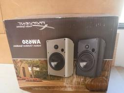 NEW PAIR PROFICIENT AW650WH INDOOR/OUTDOOR SPEAKER  WHITE