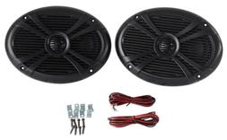Pair Rockville RMSTS69B 6x9 1000w Waterproof Marine Boat Spe