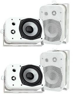 """Pyle PDWR40W 5.25"""" White Indoor/Outdoor Waterproof Home Thea"""