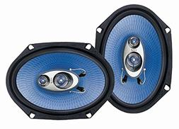 "6"" x 8"" Car Sound Speaker  - Upgraded Blue Poly Injectio"