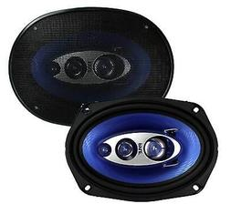 "Pyle PL6984BL 6x9"" 400 Watts 4-Way Car Coaxial Speakers Audi"