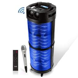 Portable Boombox PA System Speaker - 800W Rechargeable Batte