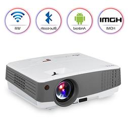 LCD HD Portable Wireless Bluetooth Projector Wifi Airplay fo