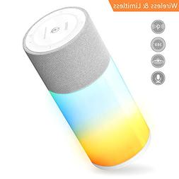 Portable Wireless Bluetooth Speaker with Lights Show,Loud St