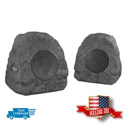 Rock Speakers Set Wireless Bluetooth Outdoor Patio All-weath