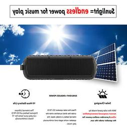 Solar Speaker Outdoor Portable Bluetooth IPX5 Wireless Water