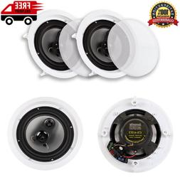 "Acoustic Audio CSic83 in Ceiling 8"" Speaker Pair 3 Way Home"