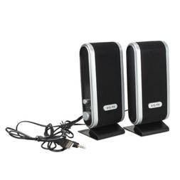 USB Power Wired Computer Speakers Stereo 3.5mm Jack for Desk